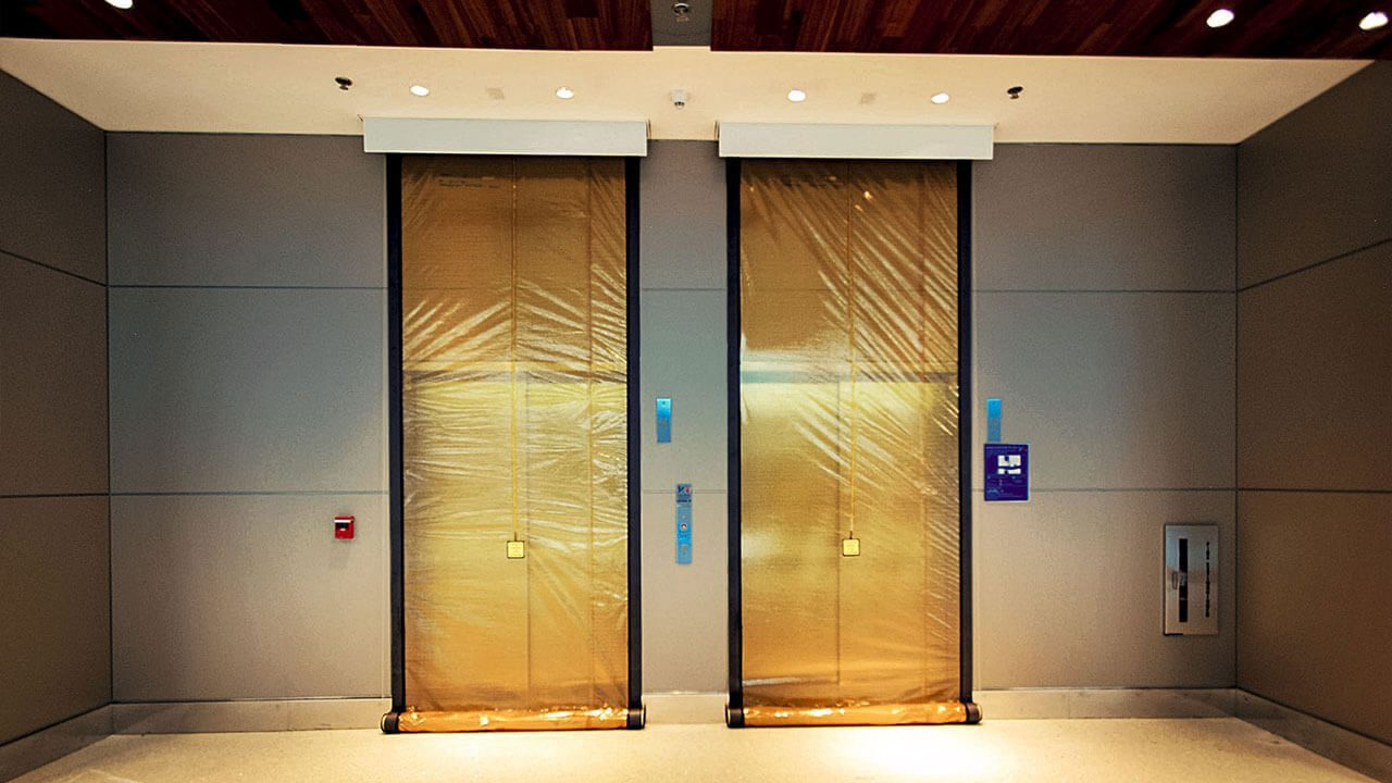 Smoke Guard Elevator Partition Fire Rated Curtains M400 Wiring Diagram Tom Bradley International Terminal Los Angeles Ca