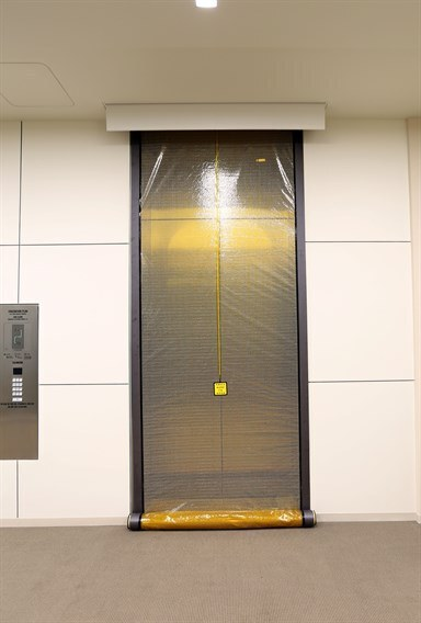 ... mounted inside the ceiling and unlike the M200 they do not require the installation of ferrous metal guide rails on either side of the elevator door. & Smoke Guard - Smoke \u0026 Fire Rated\u2026 | Smoke \u0026 Fire Rated Curtains